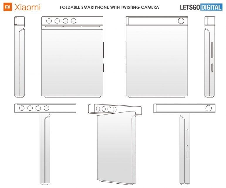 小米翻盖可折叠屏手机专利曝光 摄像头可90度转体