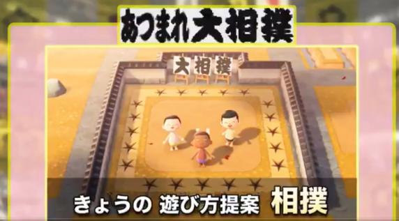 日本相扑协会联动《动森》挖坑新玩法 真正互相