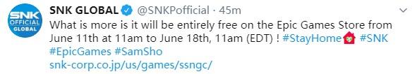 SNK《侍魂Neogeo合集》6月底将发售