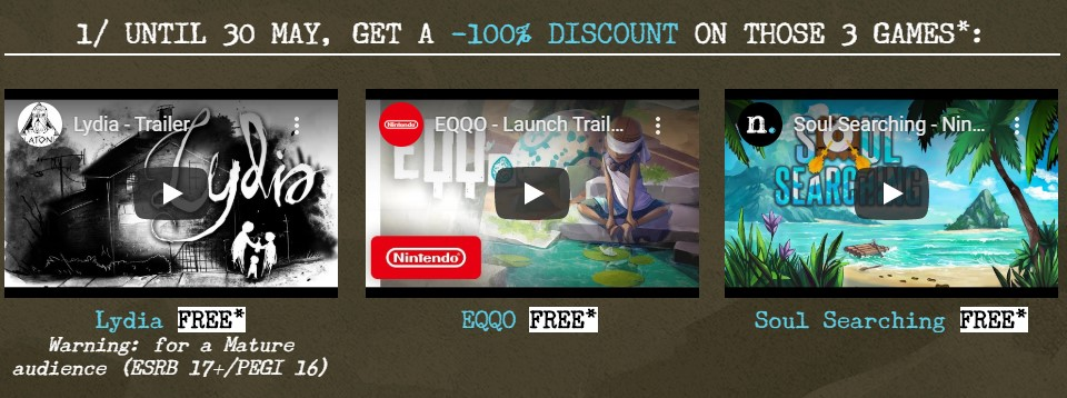 Switch美服玩家三款游戏免费获取