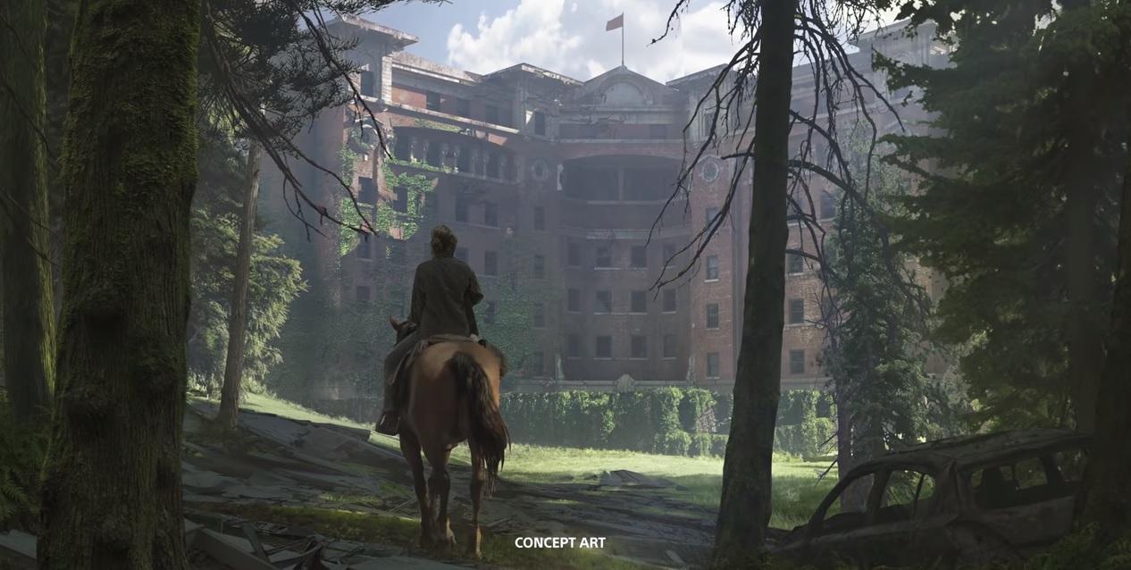 《最后的生还者2》概念插画展示末世场景