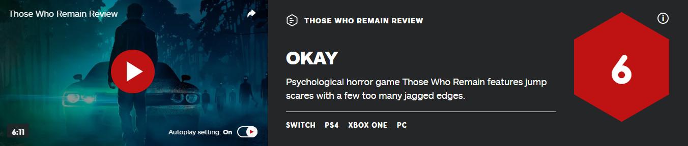 """《残存之人》IGN 6分 Steam评价""""褒贬不一"""""""