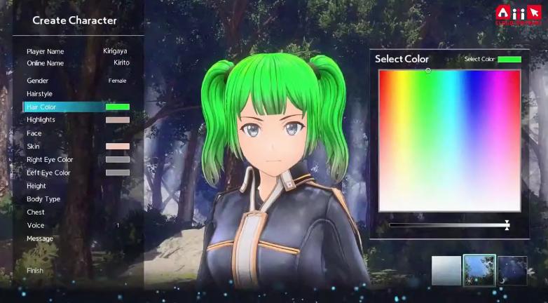 《刀剑神域彼岸游境》新宣传片:绿发双马尾桐人?