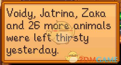 《星露谷物语》动物需要喝水MOD