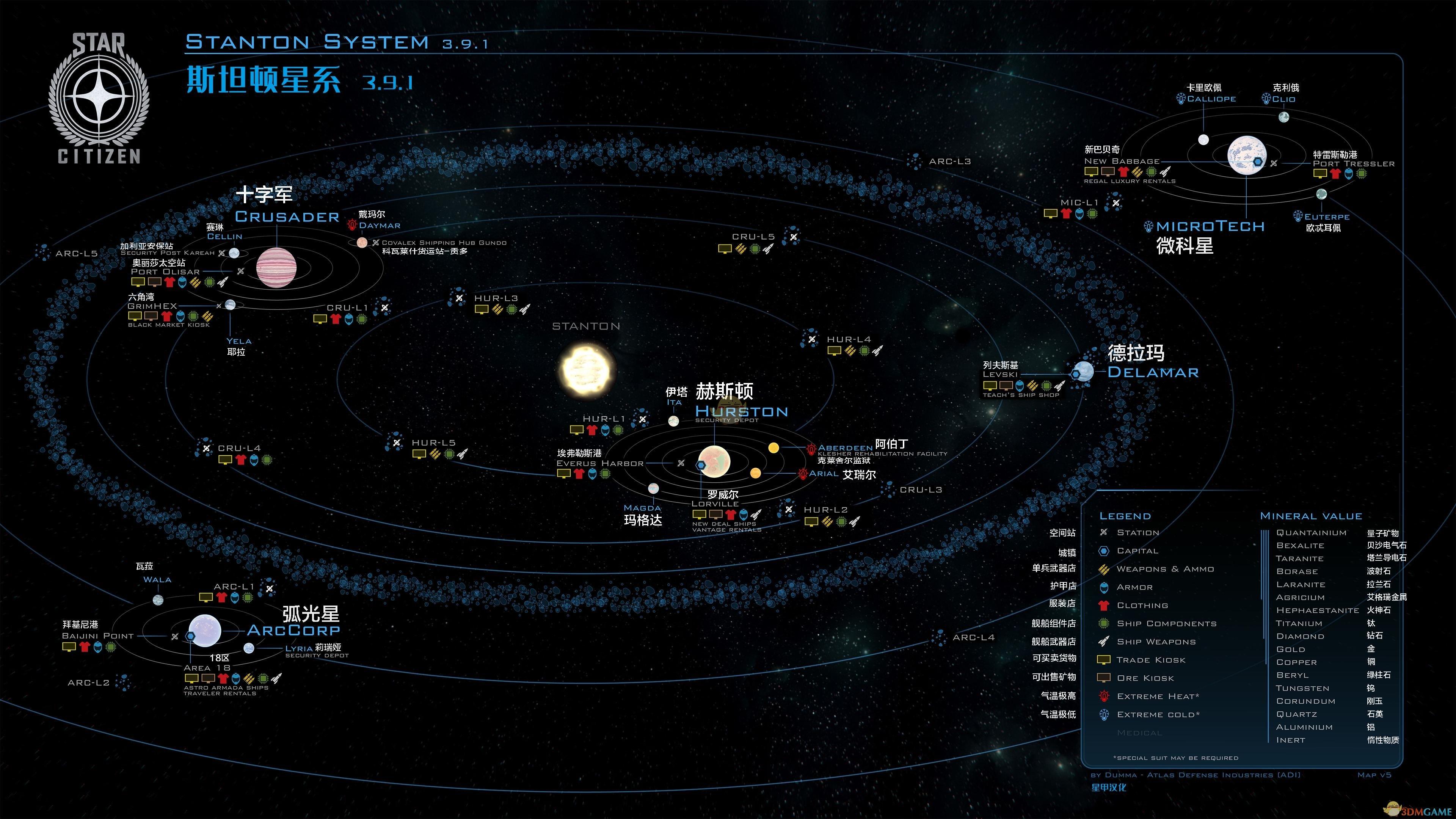 《星际公民》斯坦顿星系星图分享