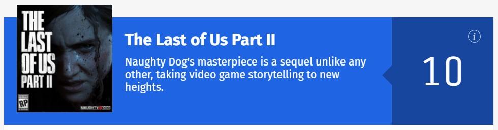 《最后的生还者2》IGN 10分:是一部大师之作