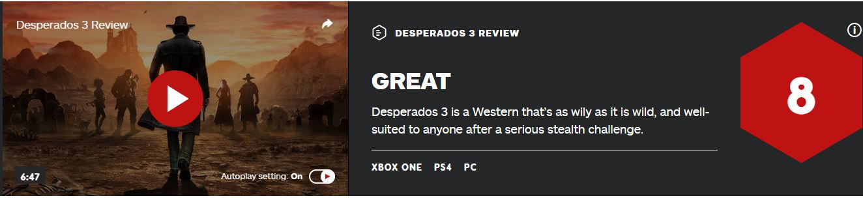 《赏金奇兵3》IGN 8分:能带来快感的硬核战术游戏