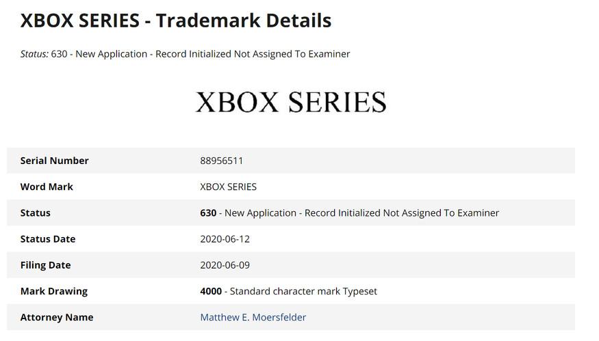 微软注册Xbox Series商标 暗示可能还有另外一个机型
