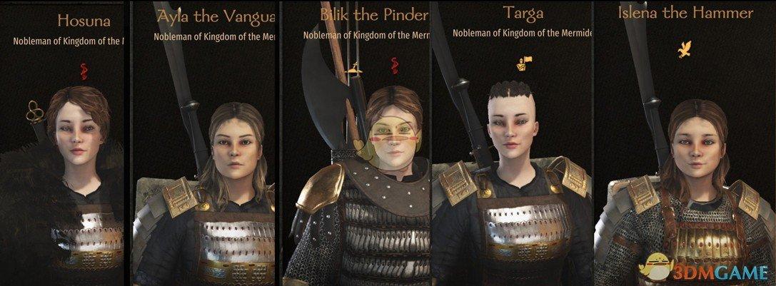 《骑马与砍杀2》Inara的女性预设包MOD