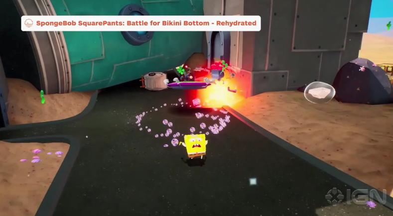 IGN游戏之夏:《海绵宝宝争霸比基尼海滩 再注水》演示