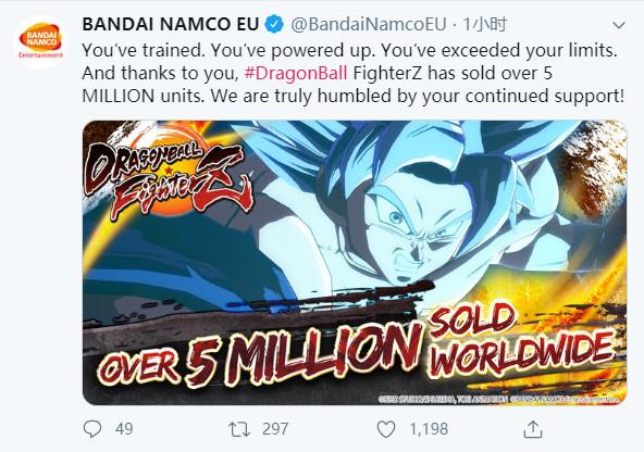 万代:《龙珠战士Z》全球销量已超500万套
