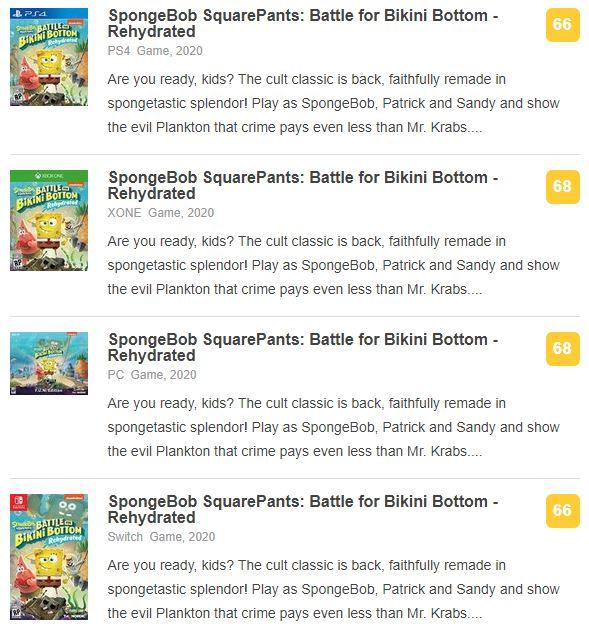《海绵宝宝:争霸比基尼海滩-再注水》IGN5分:过于怀旧