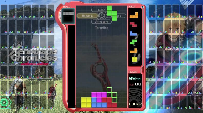《俄罗斯方块99》7月联动《异度神剑终极版》 玩家可获主题