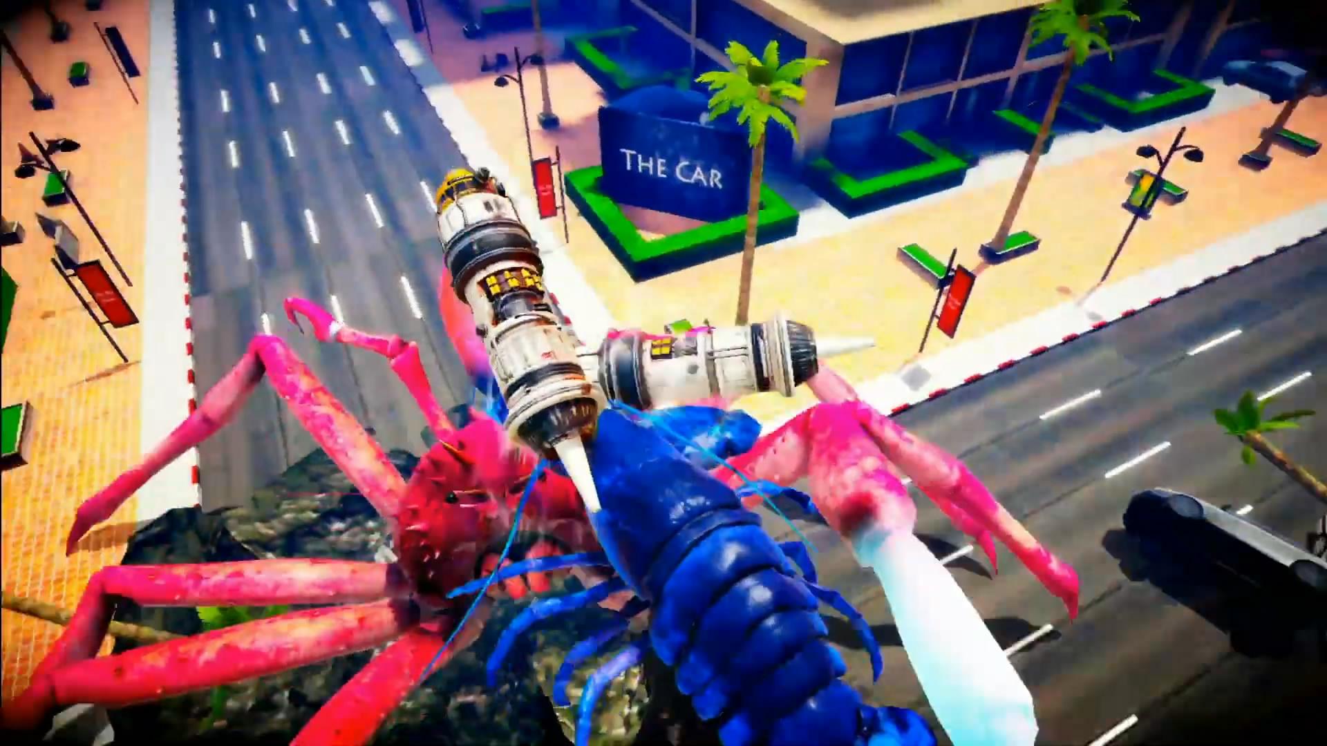 魔性格斗游戏《螃蟹大战》预告 螃蟹手持激光剑打架