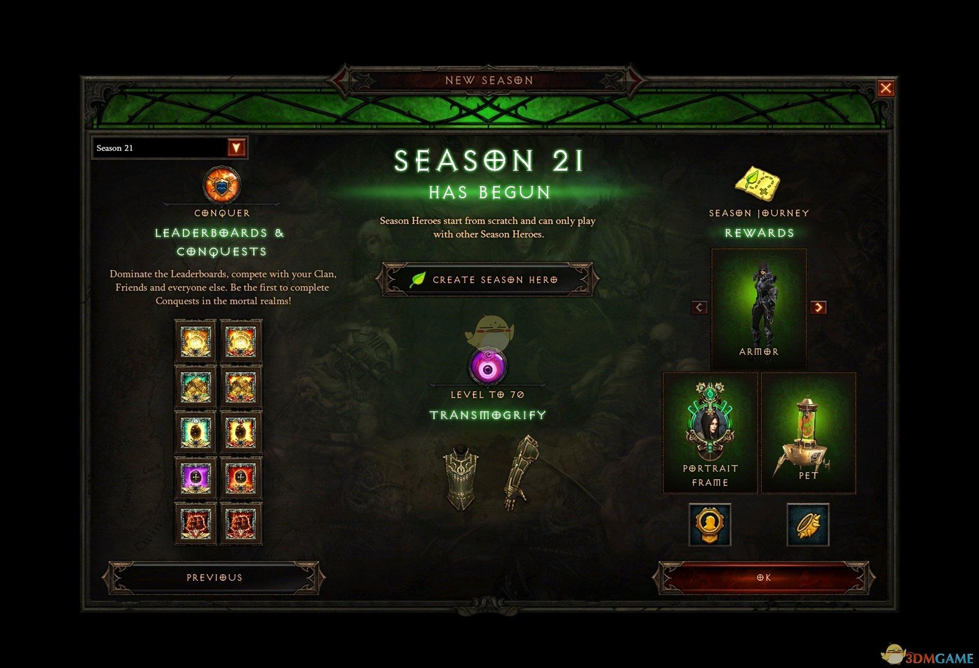 《暗黑破坏神3》第21赛季前瞻 更新内容介绍