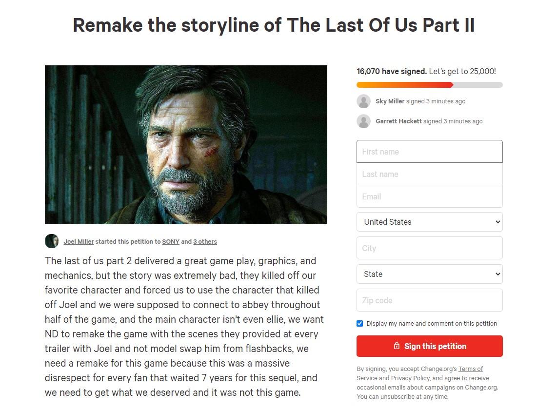 国外玩家发起《最后的生还者2》重做剧情请愿 已有1.6万人签署