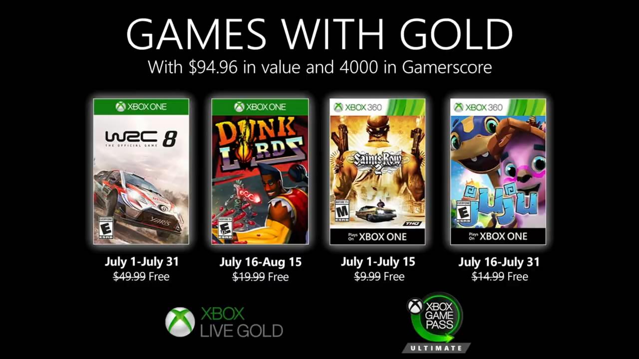 微软Xbox Live Gold金会员7月会免游戏公布