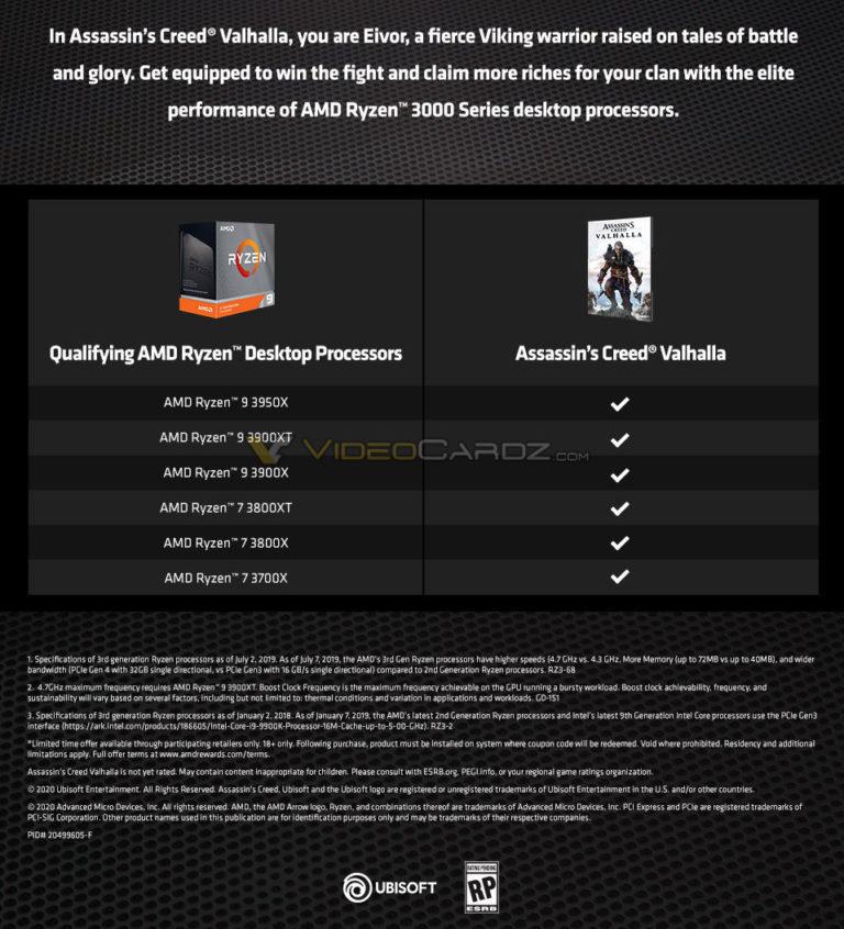 AMD促销活动 买锐龙7/9处理器送《刺客信条:英灵殿》