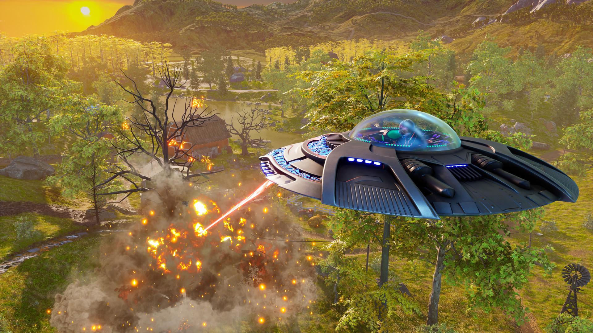 驾驶飞碟入侵地球 《毁灭全人类:重制版》场景宣传片