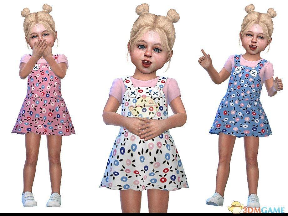 《模拟人生4》小女孩吊带花裙子MOD