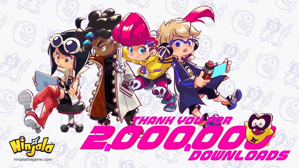 Switch免费对战游戏《Ninjala》 下载量突破200万