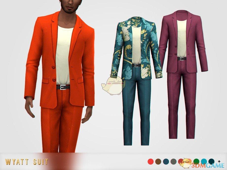 《模拟人生4》男士修身西装MOD