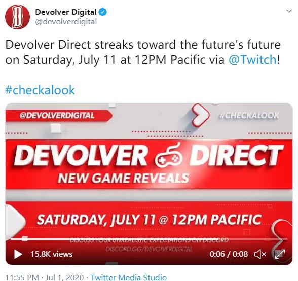 Devolver Digital游戏发布会时间确认 7月12日凌晨3点