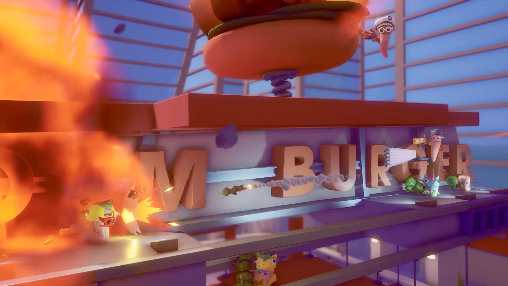 《百战天虫》新作正式公布 即时玩法加吃鸡乱斗
