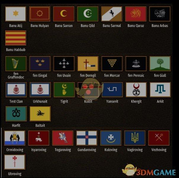 《骑马与砍杀2》中世纪旗帜包MOD