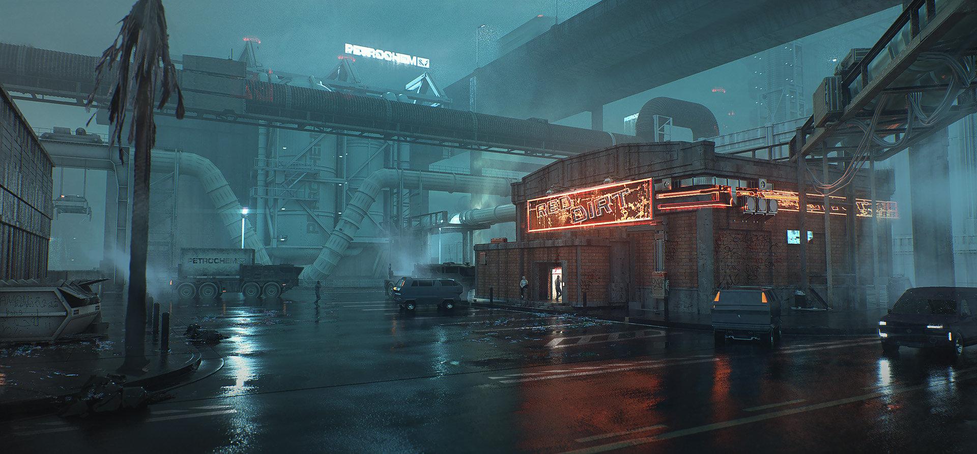 《赛博朋克2077》新截图 帮派盘踞的穷街恶巷沃森