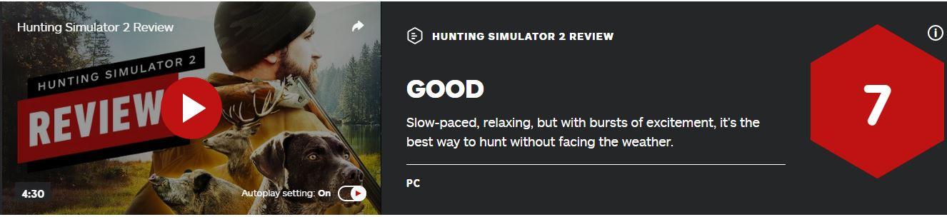 《模拟狩猎2》IGN 7分:真实感十足、休闲又刺激