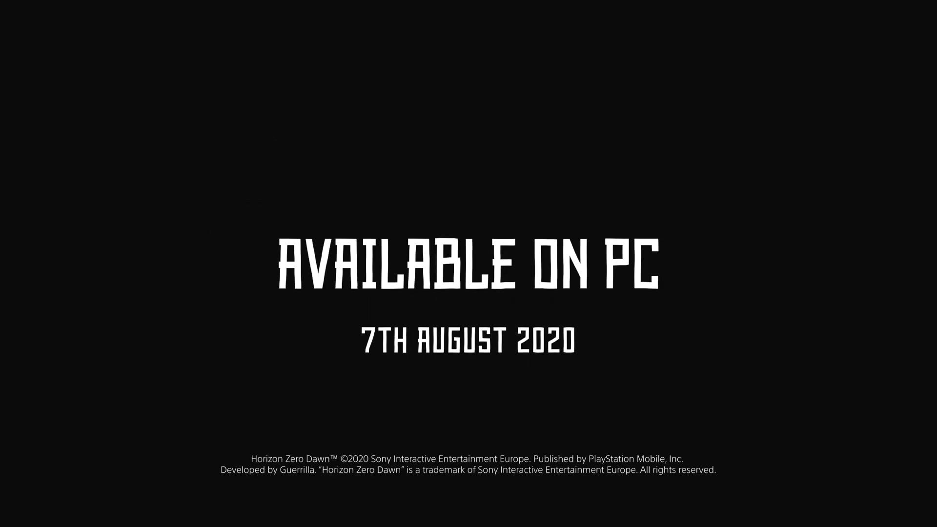《地平线:黎明时分》PC版今年8月7日发售 最高120帧运行