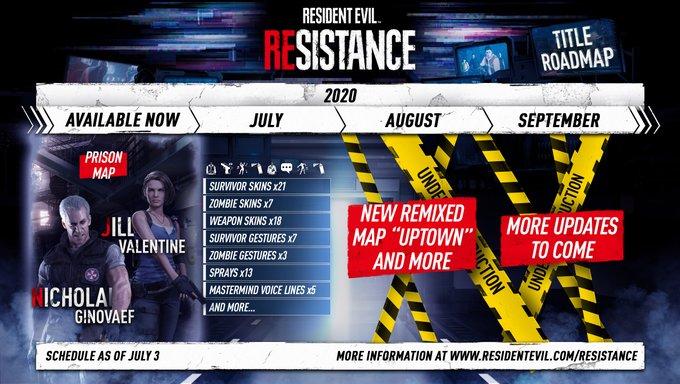 《生化危机:抵抗计划》开发路线图暗示新地图
