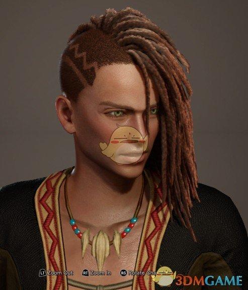 《怪物猎人:世界》单边超长脏辫发型MOD