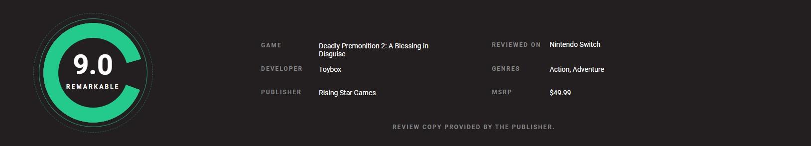 《致命预感2》IGN 5分:不亮点 非常一般 战斗僵硬