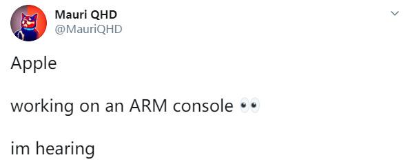传苹果正在开发基于自研ARM芯片的游戏主机