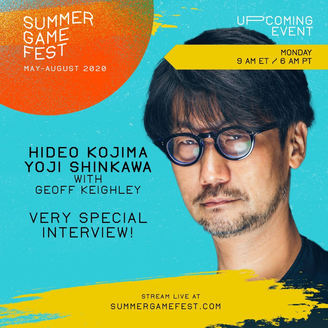 小岛秀夫将参加7.13日晚间夏日游戏节 探讨《死亡搁浅》PC版