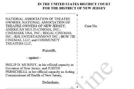美国电影院状告新泽西州长:禁止影院复业是违