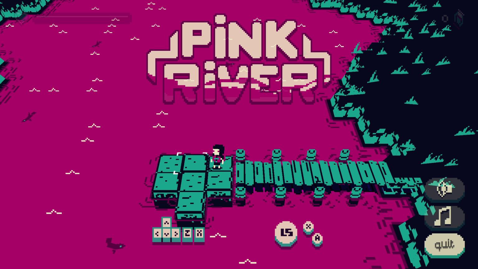 创意游戏《粉红河流》公开收获好评 漂流+搬箱子玩好不容易
