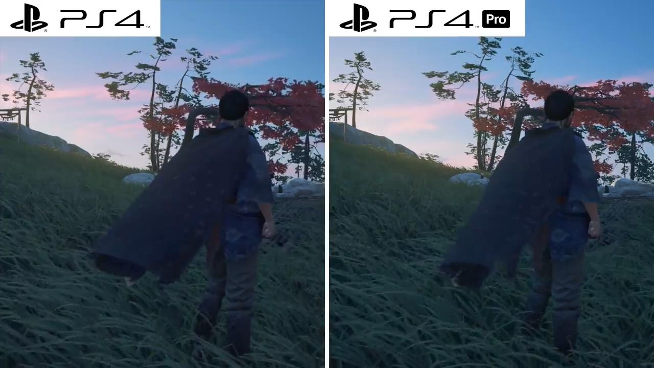 《对马岛之鬼》PS4和PS4 Pro画面对比视频
