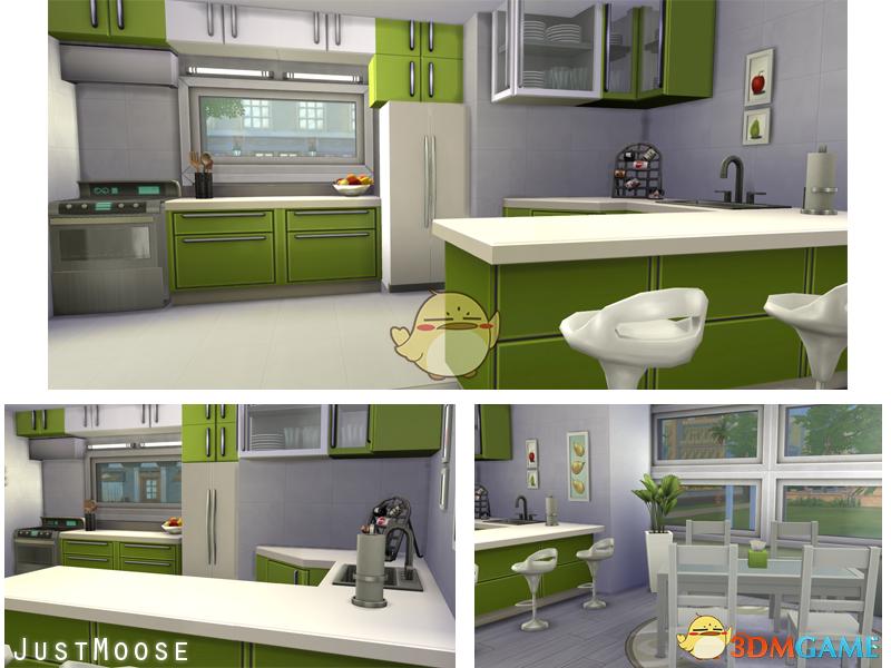 《模拟人生4》双层简约双层住宅MOD