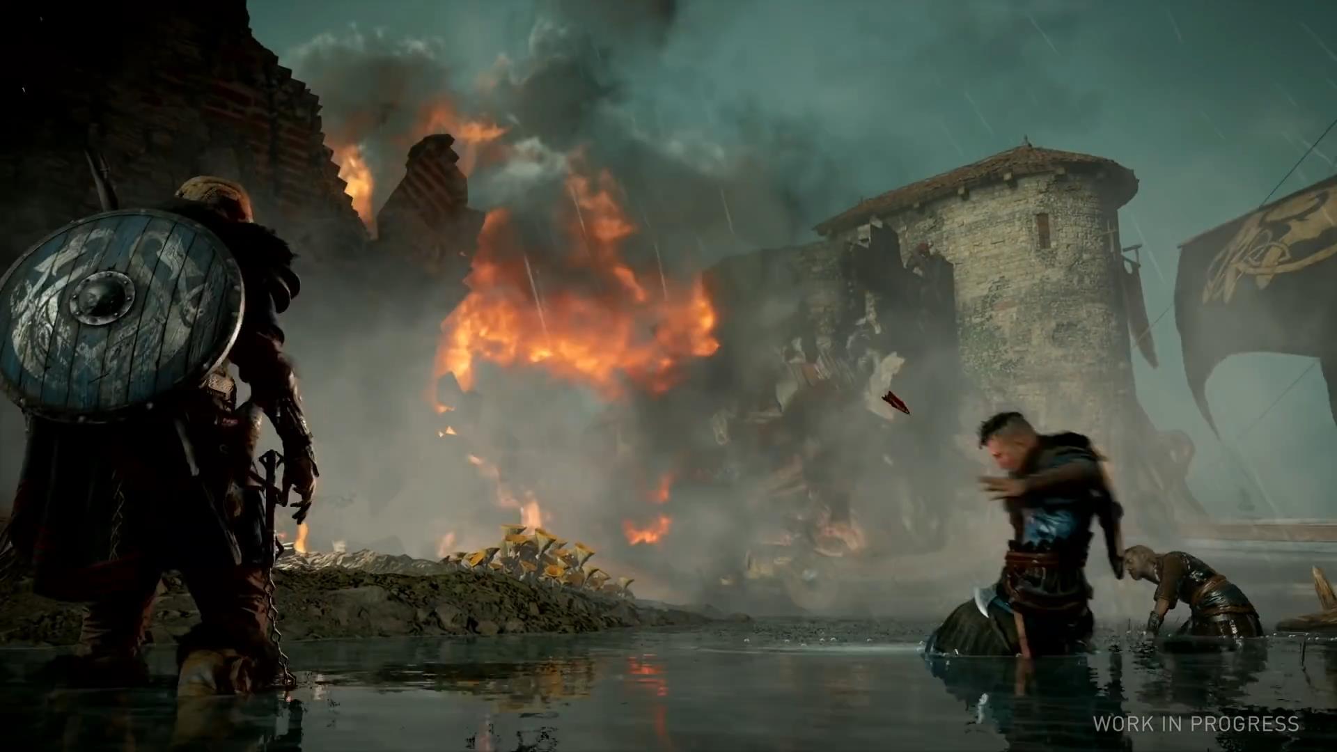 《刺客信条:英灵殿》PC试玩视频 画面美丽效果出众
