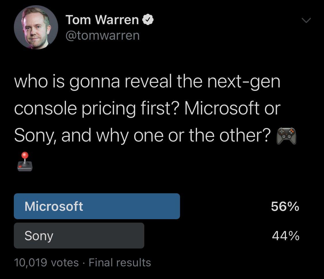 索尼微软谁先公布主机价格引万人投票 56%选了微软