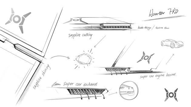 荣耀首款游戏本设计手稿曝光:超跑外形 或在8月发布