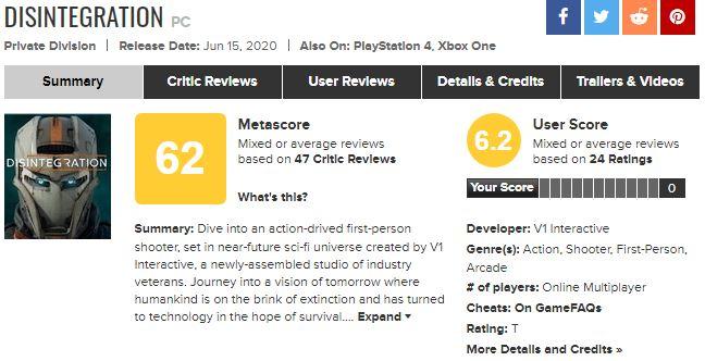 光环创始人作品《崩解》开启免费游玩 目前玩家口碑一般