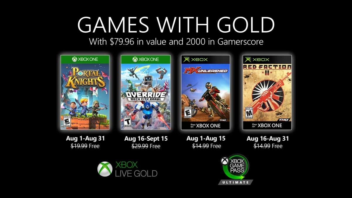微软Xbox Live Gold金会员8月会免阵容公布