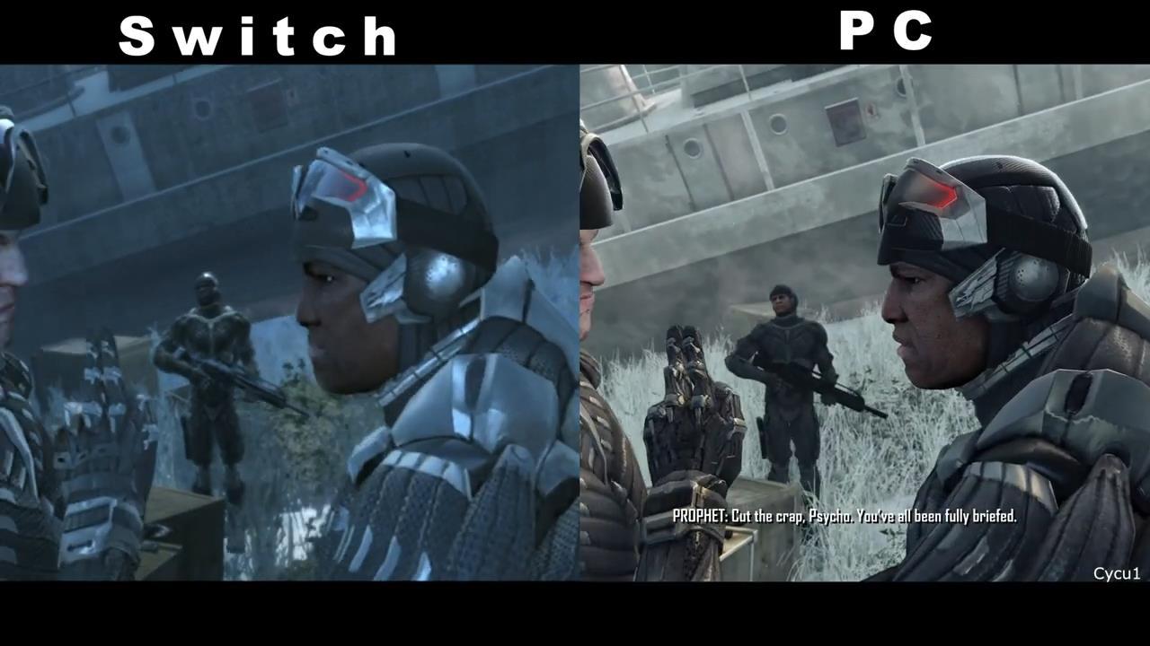 《孤岛危机:复刻版》NS版与原版对比视频 画面差距大