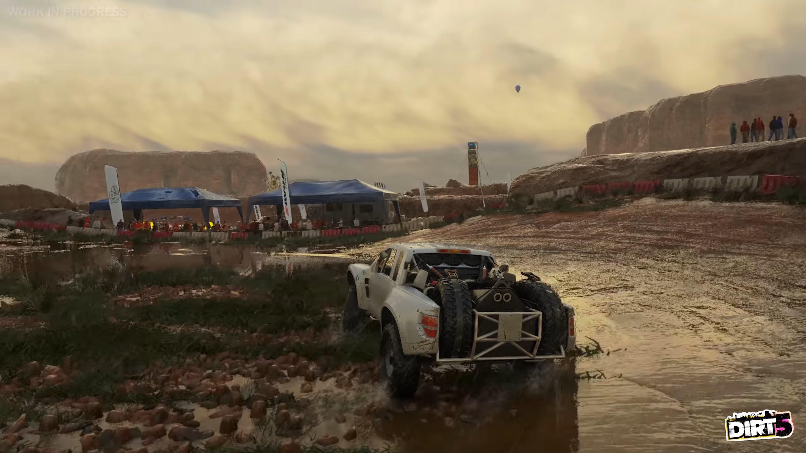 《尘埃5》计时赛实机演示片段 多视角切换雨中疾驰