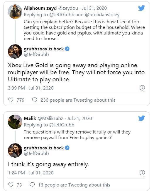 """XSX和XB1的多人游戏付费门槛或将""""彻底消失"""""""