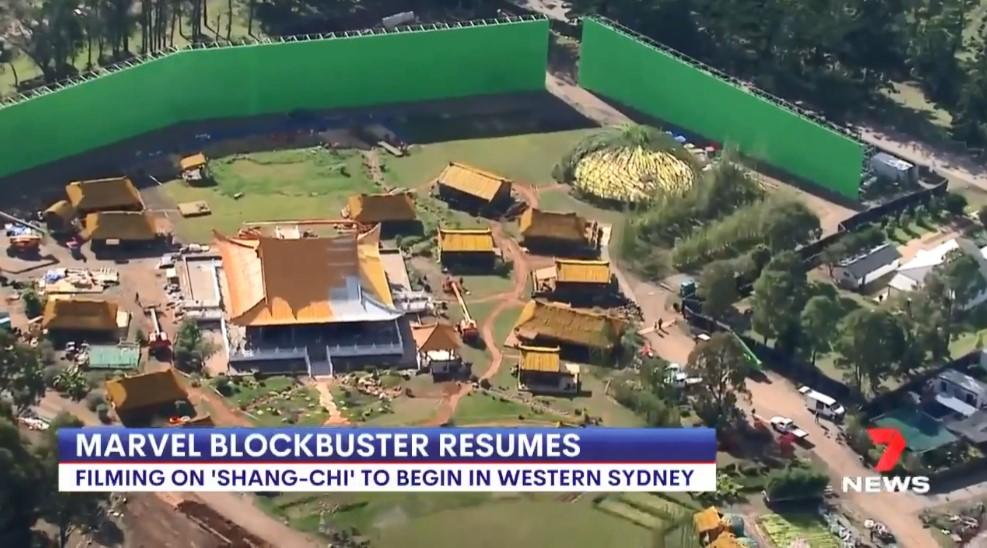 《尚气》澳洲复工 片场外景视频公布 中国风宫殿、村庄很还原